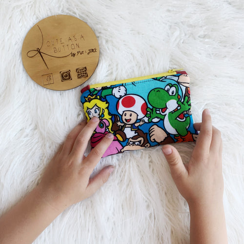 Small zip pouch- Nintendo characters