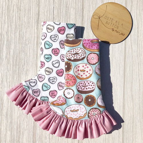 Donuts and conversation hearts curved suck pads - glazed ftg