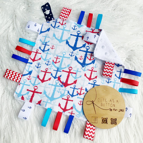 Anchors on white taggie