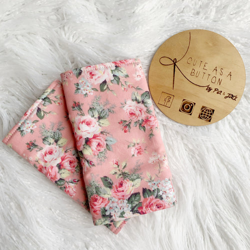 Peach floral straight suck pads