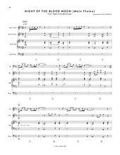 Night of the Blood Moon (Official Score Book / Digital Sheet Music)