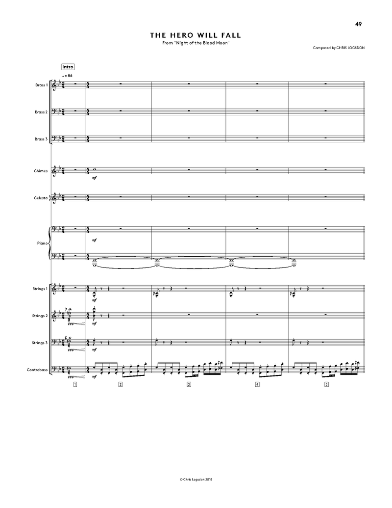Night Of The Blood Moon (Official Score Book / Digital Sheet Music) Music