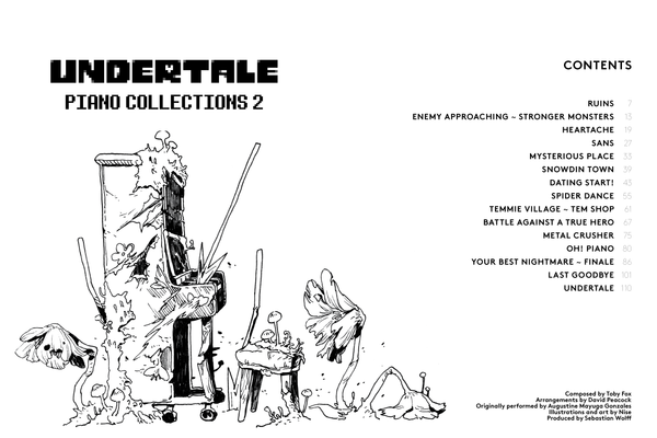 Undertale Piano Collections 2 (Physical Sheet Music Book)