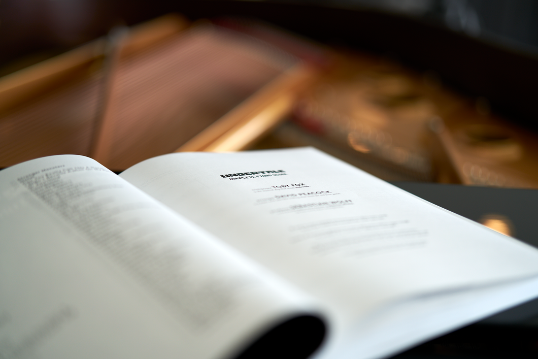 UNDERTALE Complete Piano Score (Physical Sheet Music Book