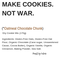 Make Cookies Not War(Oatmeal Chocolate Chunk Cookies)