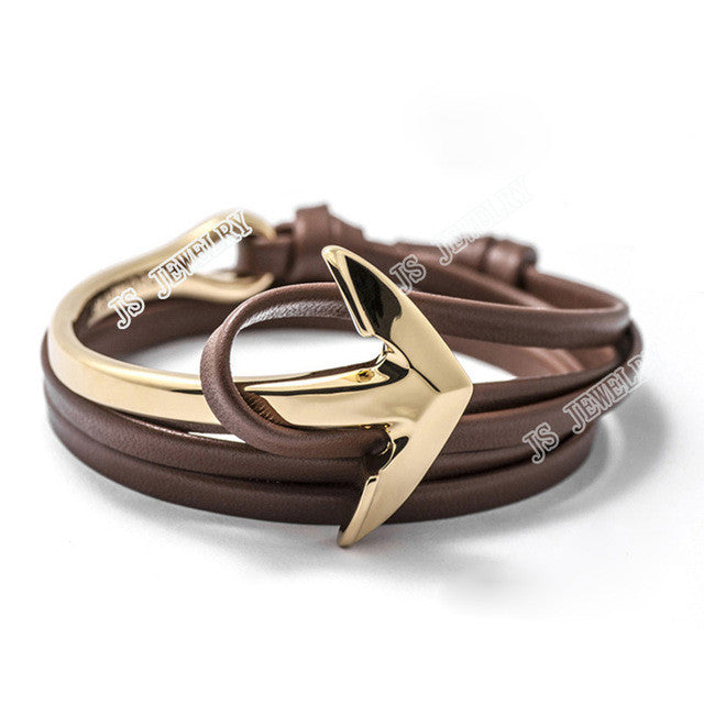 GOLD PLATED ANCHOR BRACELET
