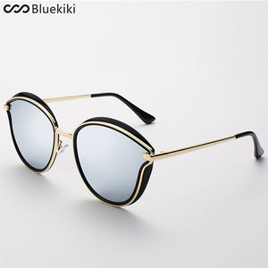 Cat Eye Women Sunglasses Designer Metal Frame Polarized Fashion Glasses - KIKI
