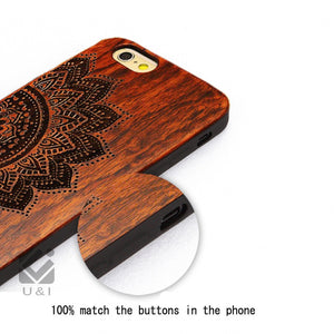 Thin Luxury Natural Wood Phone Case For Iphone