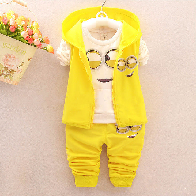 Despicable Me 2 Minion Kids Long-sleeved Tracksuits