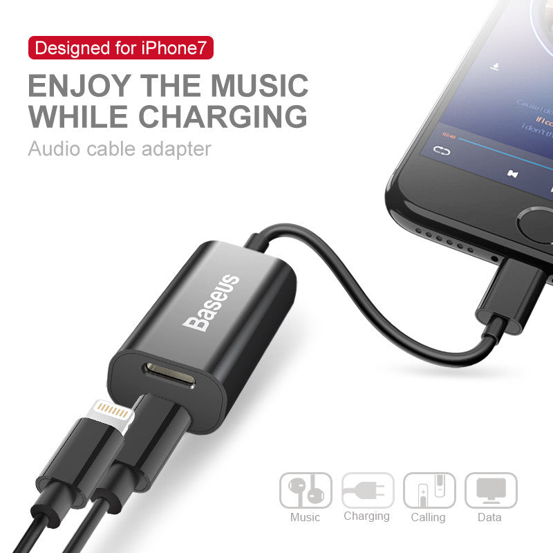 Baseus 2in1 Lightning Adapter for Calling + Charging