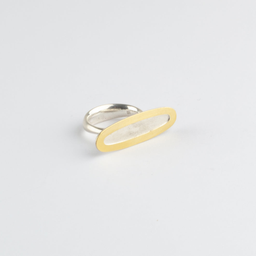 Ellipse gold & silver ring