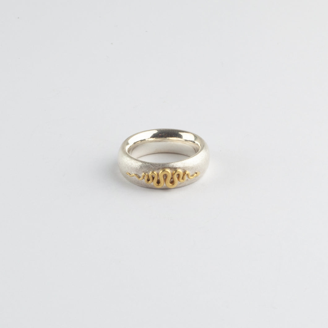 GB Snake gold & silver ring