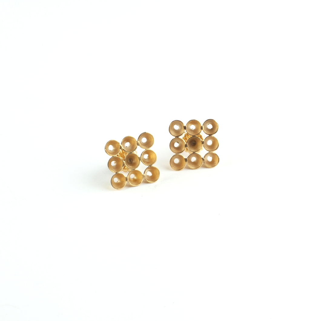 'Cone' stud earrings - gold