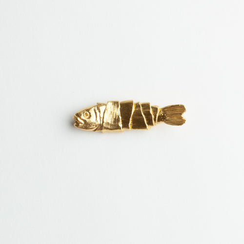 'Lucky Fish' brooch - gold