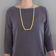 MG 'Straws' necklace - yellow/baby blue