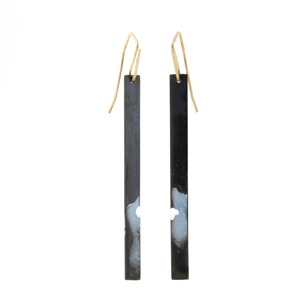 'Industrial Lightscapes' hook earrings