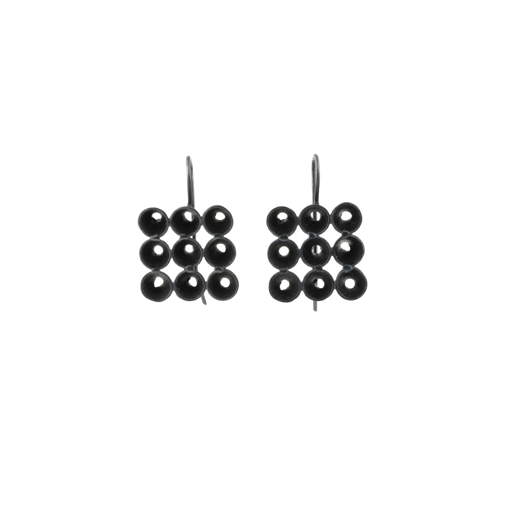 JB Cone hook earrings - black