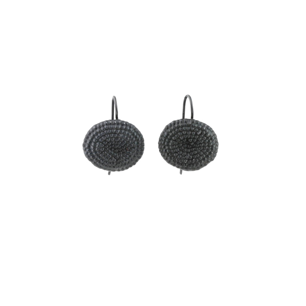 JB Punched dot hook earrings