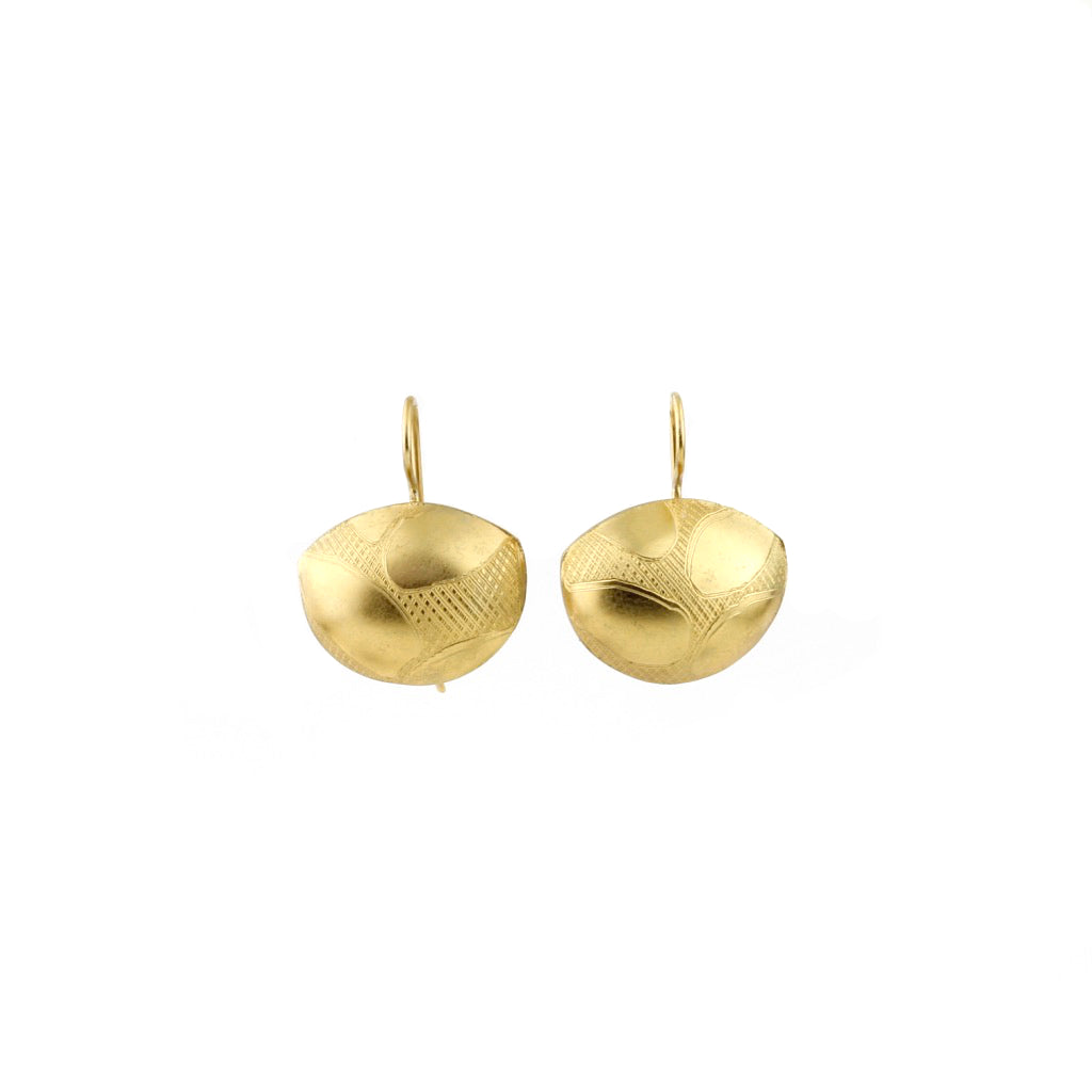 JB Domed hook earrings