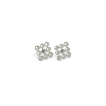 'Cone' stud earrings - silver