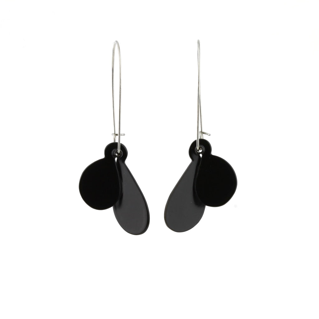 JD 'Leaf' earrings (S) - black