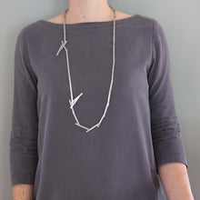 'Priceless' necklace - long silver
