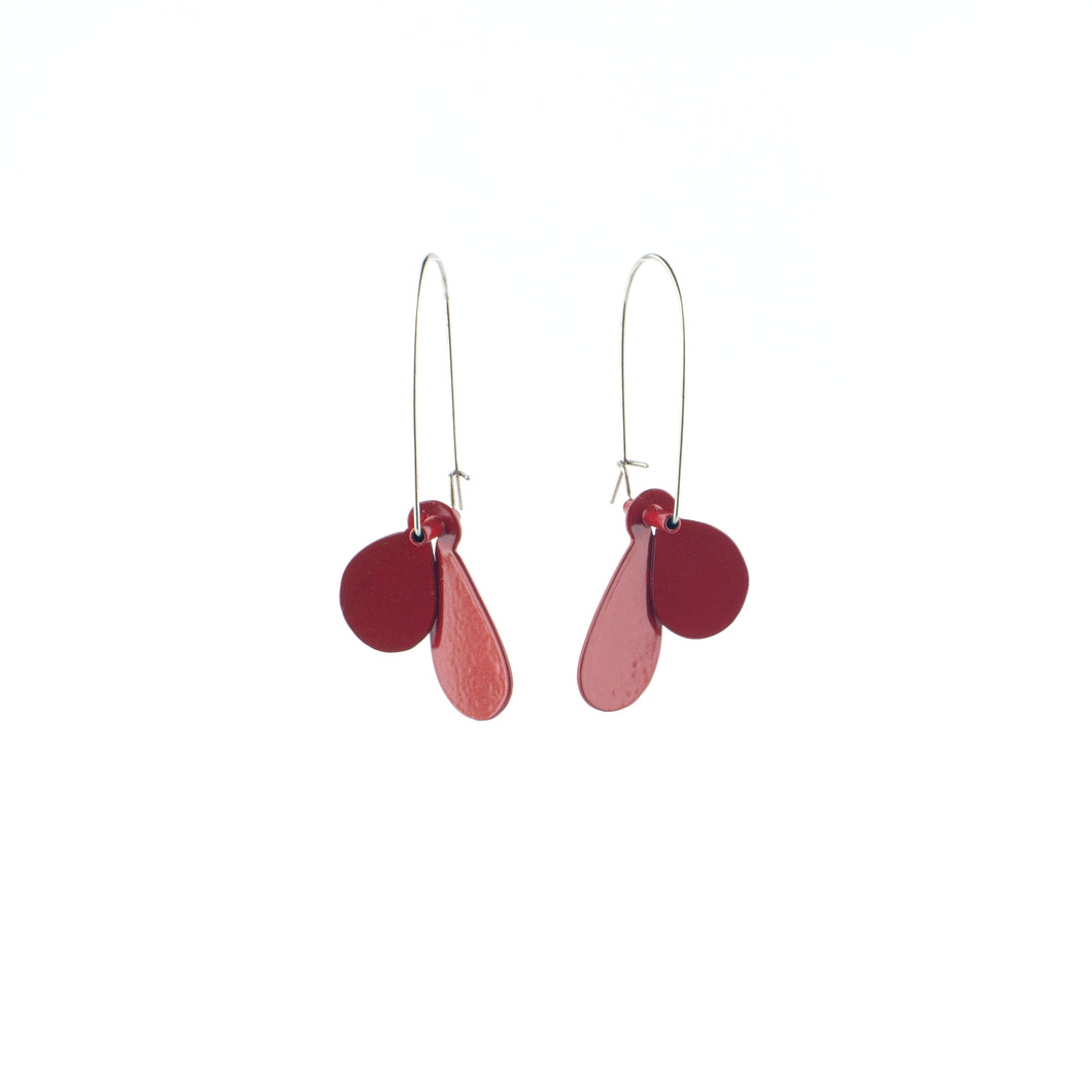 JD 'Leaf' earrings (S) - red