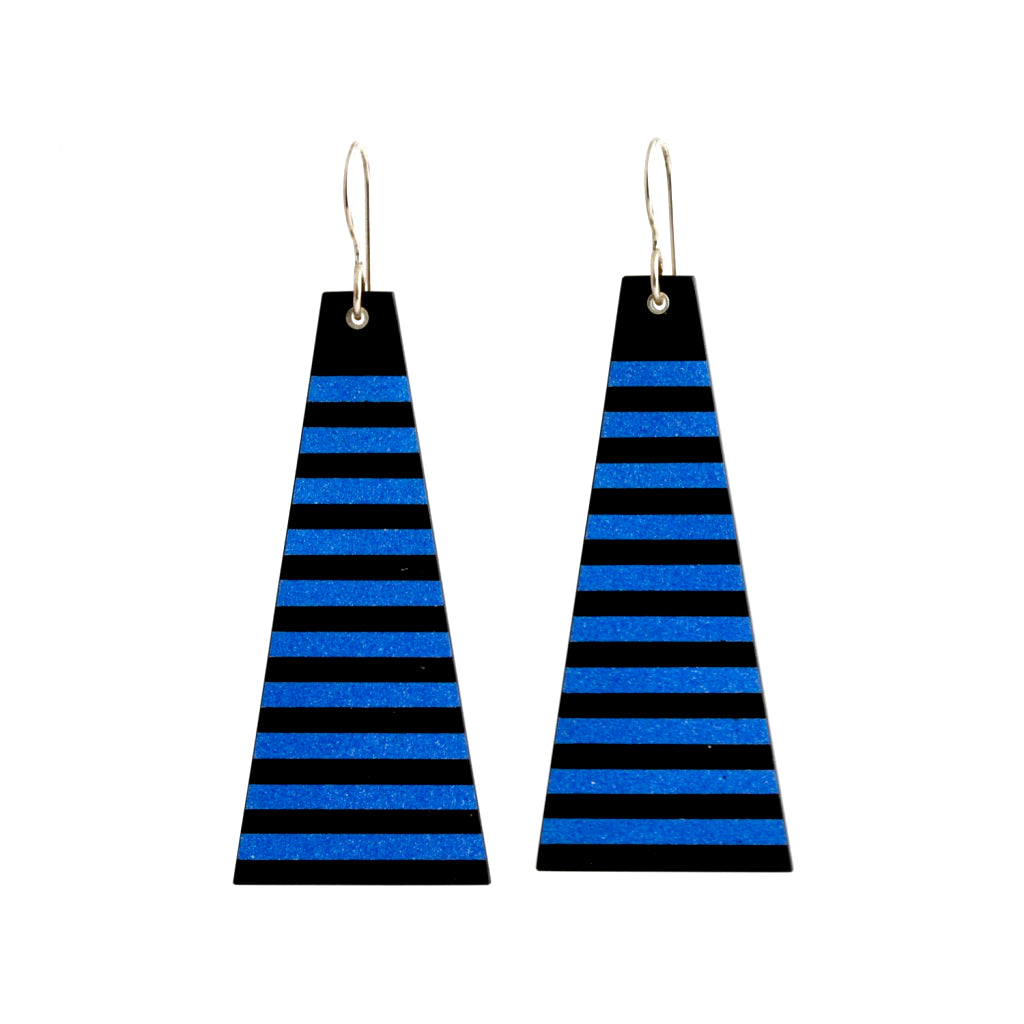 MG 'Azul' striped earrings