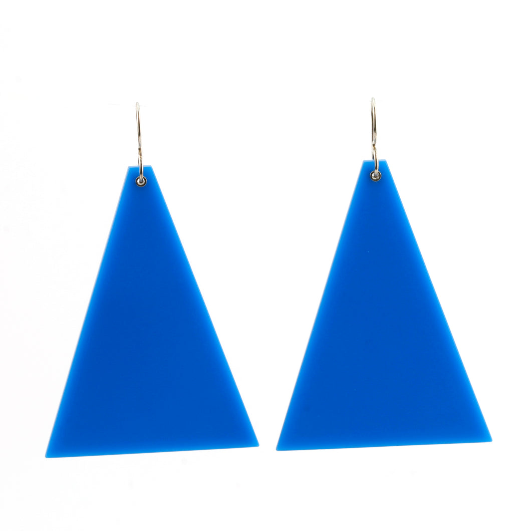 'Blue Triangle' earrings