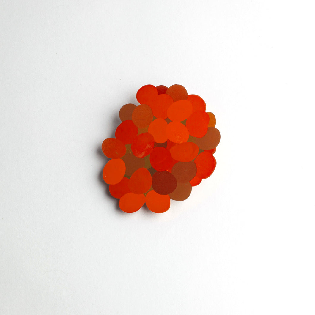 SM 'Flat Colour' large brooch - orange/red