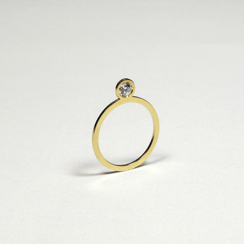 'Flat Diamond' ring