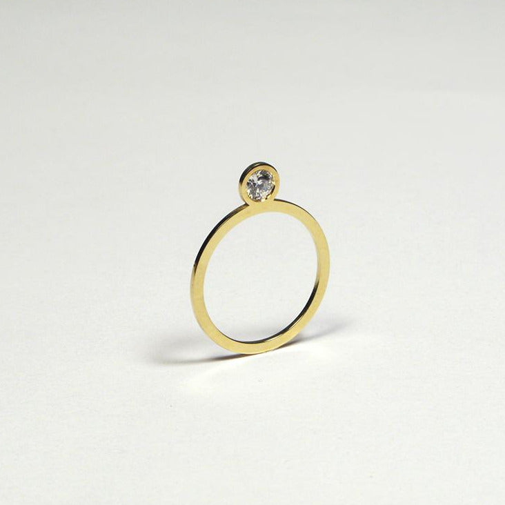 MM 'Flat Diamond' ring