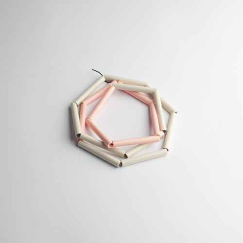 MG 'Straws' necklace - pink/beige