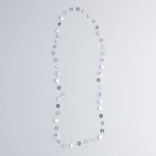 MVK 'Paper pearls' necklace - silver