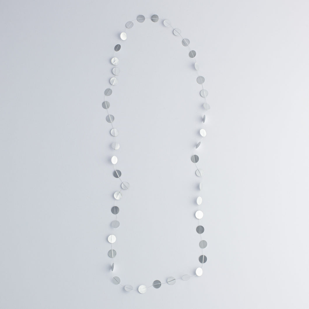 'Paper pearls' necklace - silver