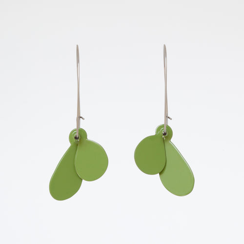 'Leaf' earrings (S) - olive