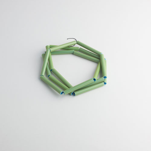 MG 'Straws' necklace - green