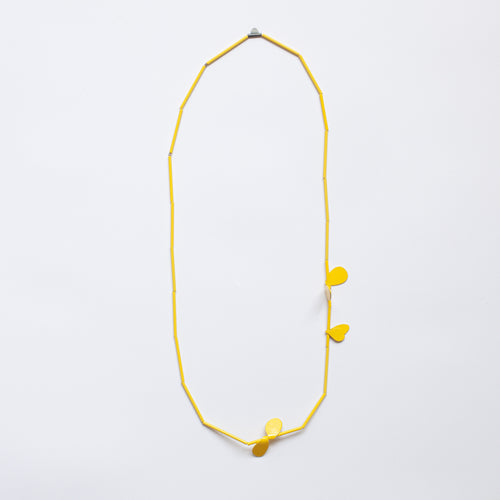 'Leaf' necklace - yellow