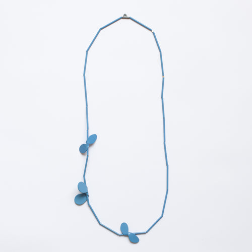 'Leaf' necklace - blue
