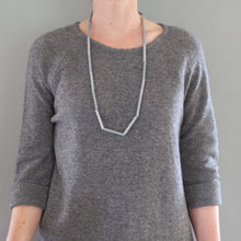 'Straws' necklace - grey