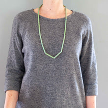 'Straws' necklace - green