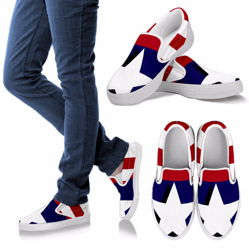 Stars and Stripes Women's Canvas Slip-ons
