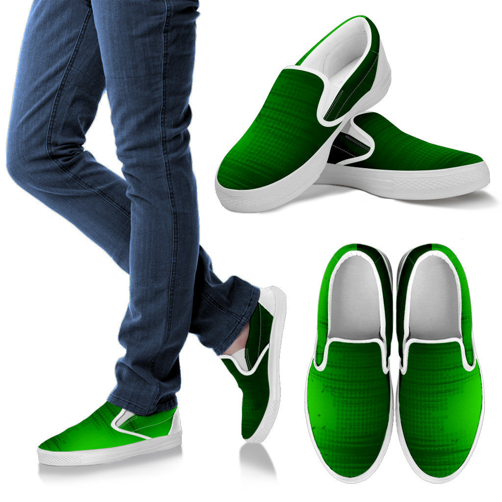 Green Buzz - Men's Canvas Slip-on Shoes