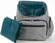 laptop backpack diaper bag teal interior