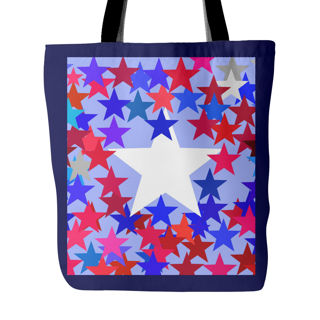 Stars Abound Canvas Tote