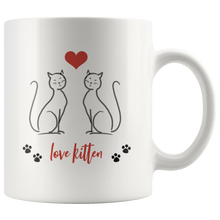 Love Kitten Mug, 11 oz
