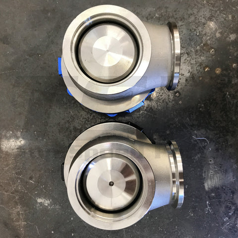 Authentic TiAL MVR wastegate valve compared to Counterfeit TiAL MVR valve