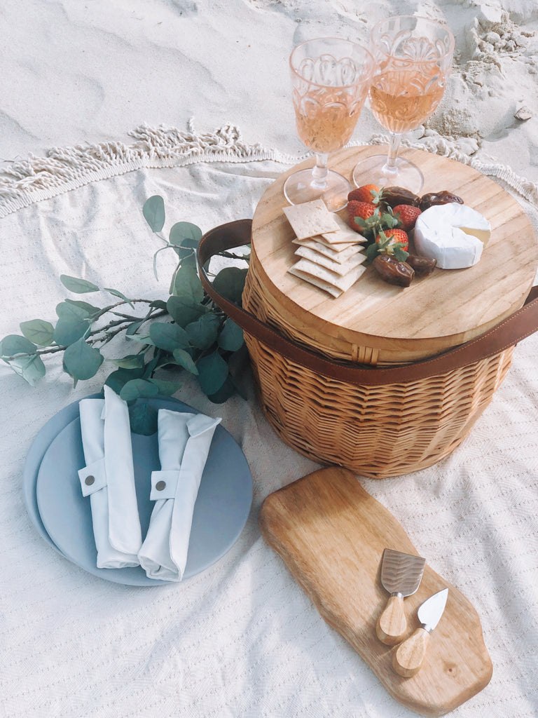 Mini Camphor Laurel Board and Cheese Knives