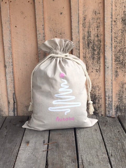 Santa Sacks - Natural Linen/Cotton Medium Size