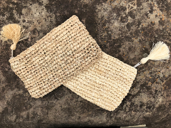 Raffia Clutch / Make-Up Bag